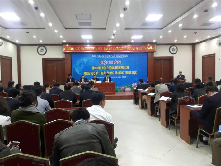 Hội thảo tổ chức hoạt động nghiên cứu khoa học kỹ thuật trong trường trung học