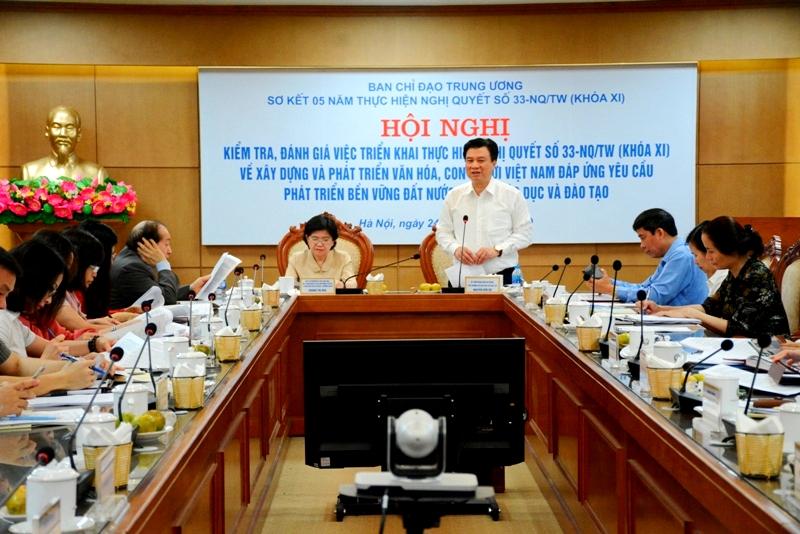 Giáo dục góp phần thực hiện mục tiêu xây dựng con người Việt Nam phát triển toàn diện