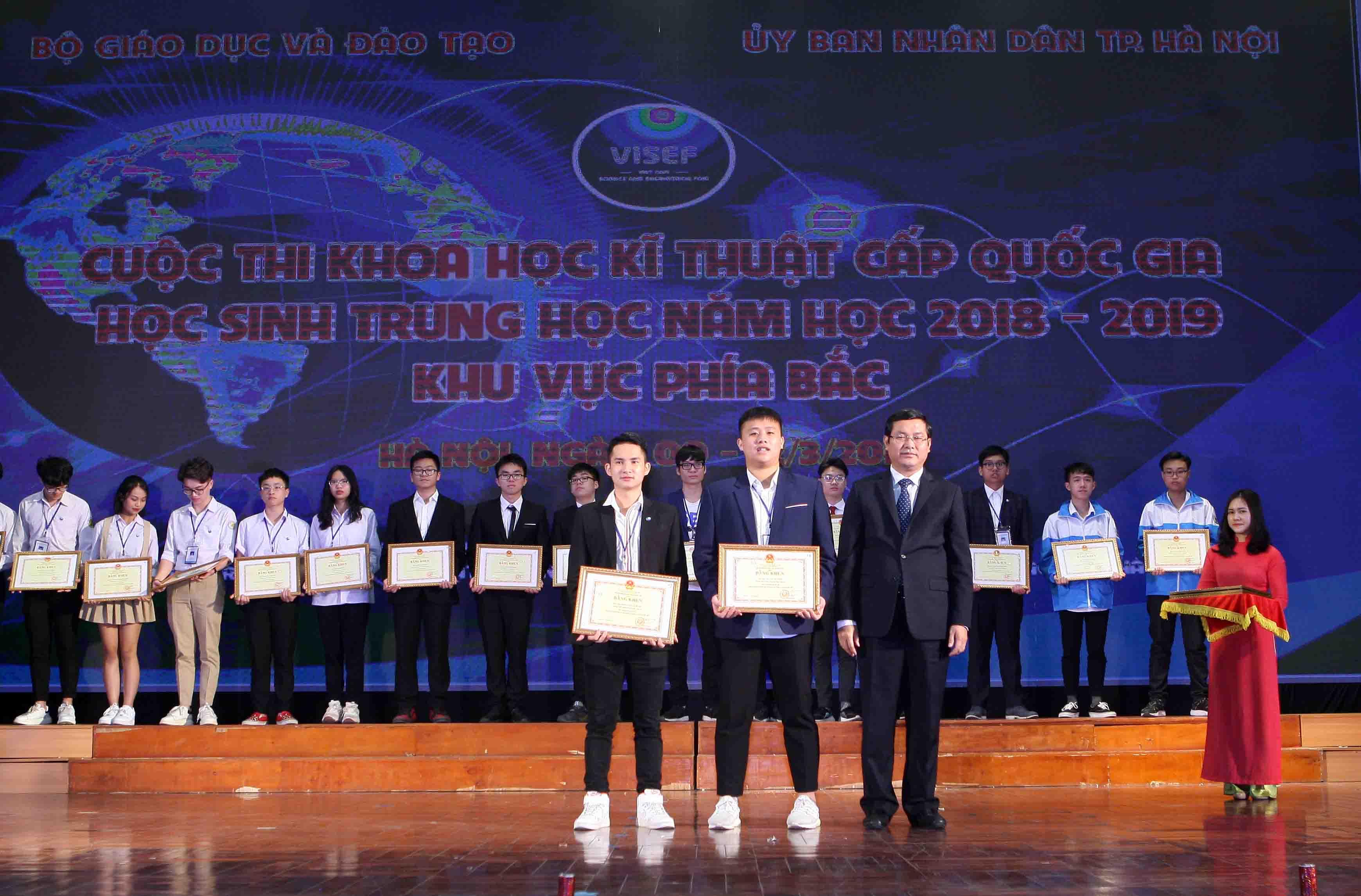 Trao giải Cuộc thi Khoa học Kỹ thuật cấp quốc gia dành cho học sinh trung học khu vực phía Bắc